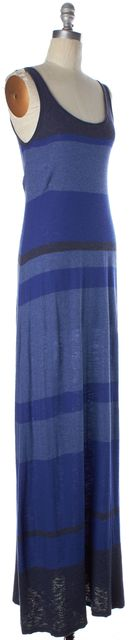 VINCE Blue Multi Striped Knit Sleeveless Scoop Neck Tank Maxi Dress