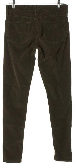 VINCE Green Stretch Cotton Skinny Leg Corduroys Pants