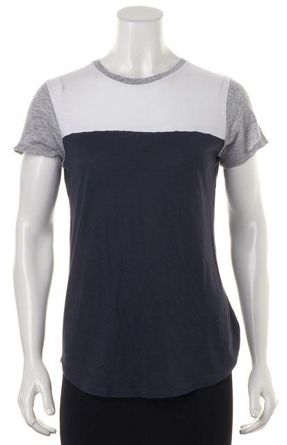 VINCE Blue White Grey Colorblock T-Shirt