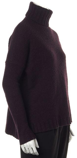 VINCE Purple Wool Turtleneck Sweater