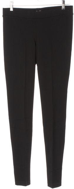 VINCE Black Stretch Jersey High Rise Back Seam Detail Leggings Pants