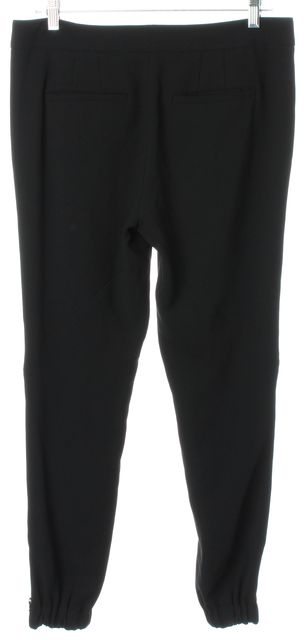 VINCE Black Pleated Zip Ankle Cropped Trouser Dress Pants