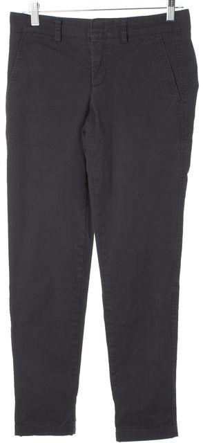 VINCE Gray Stretch Cotton Skinny Leg Trousers Pants