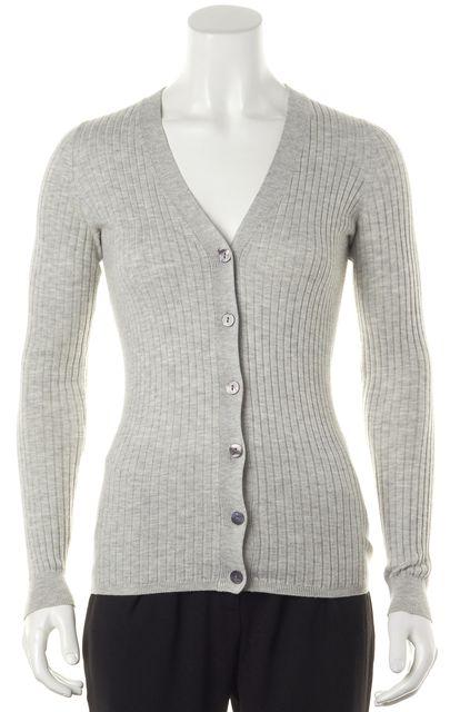 VINCE Gray Knit Cardigan