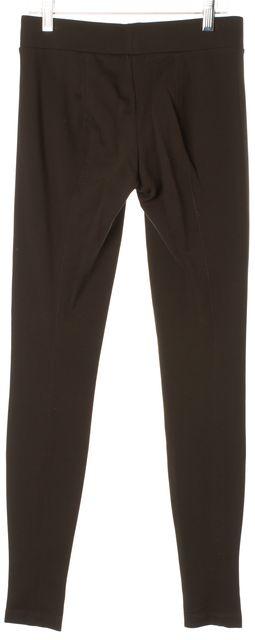 VINCE Brown Stretch Ponte Jersey Skinny Leggings