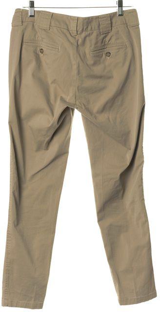 VINCE Beige Cotton Skinny Leg Khakis Pants