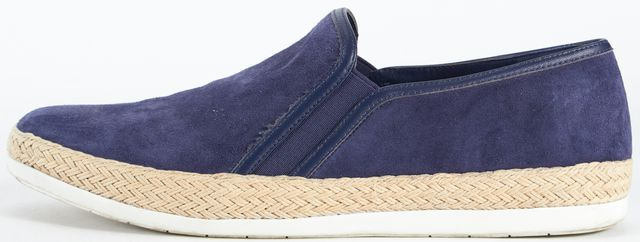 VINCE Deep Blue Suede Acker Slip-On Sneakers