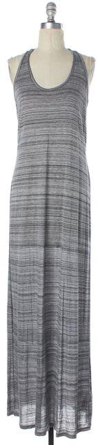 VINCE Gray Black Jersey Knit Sleeveless Racer Back Maxi Tank Dress