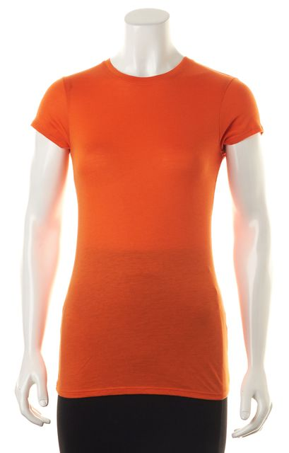 VINCE Orange Basic Short Sleeve Crewneck Tee T-Shirt