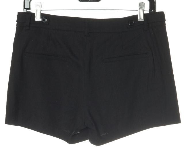 VINCE Black Linen Mini, Short Shorts