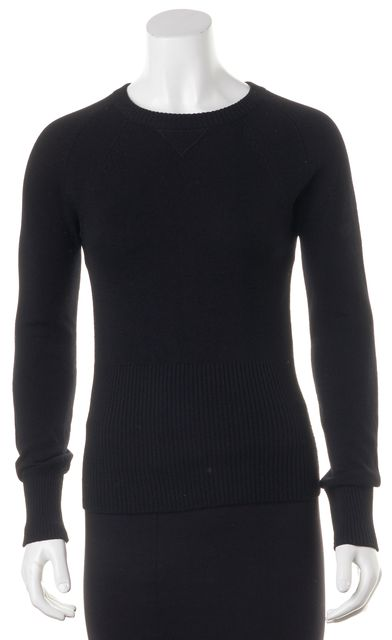 VINCE Black Long Sleeve 100% Cashmere Stretch Blouse Top