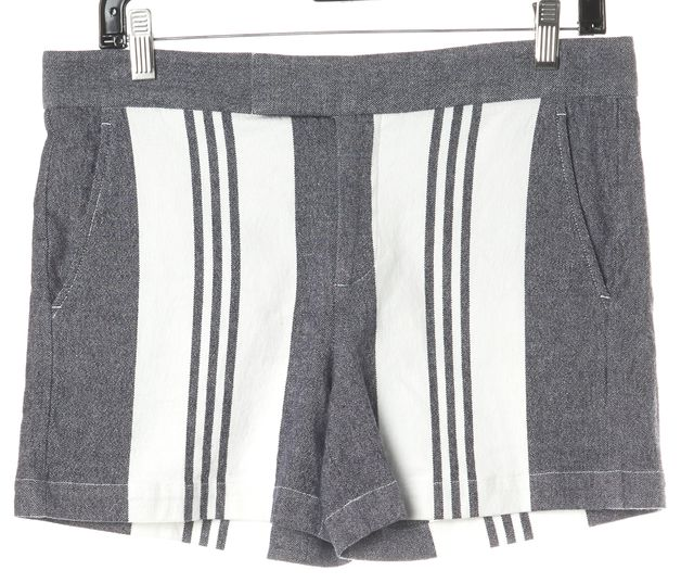 VINCE Blue Striped Linen Shorts