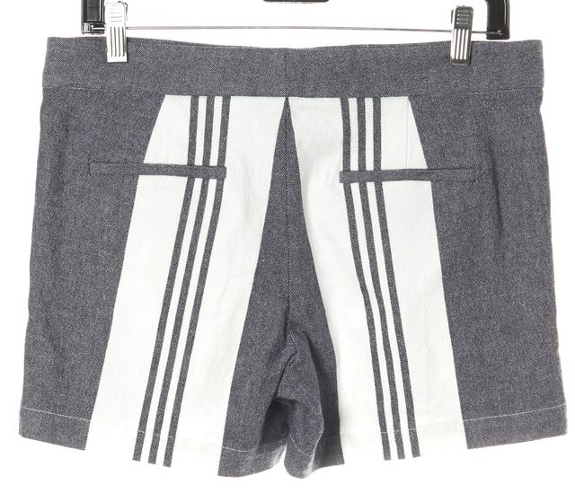 VINCE Blue Striped Linen Shorts