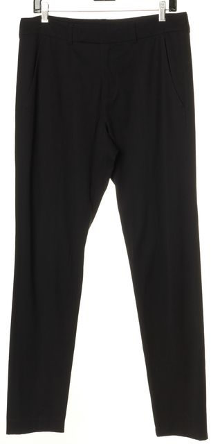 VINCE Black High Rise Skinny Leg Ankle Zip Trousers Pants