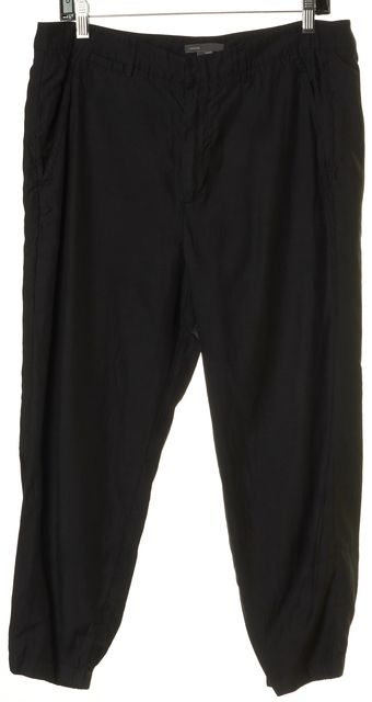 VINCE Black High Rise Casual Cropped Jogger Pants