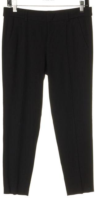 VINCE Black Skinny Leg Cropped Center Seam Detail Trousers Pants
