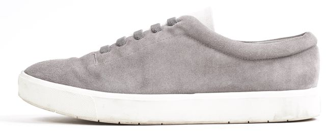 VINCE Gray Suede Leather Lace Up Sneakers