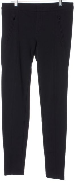 VINCE Black Stretch Ponte Zip Pockets Skinny Leggings Pants