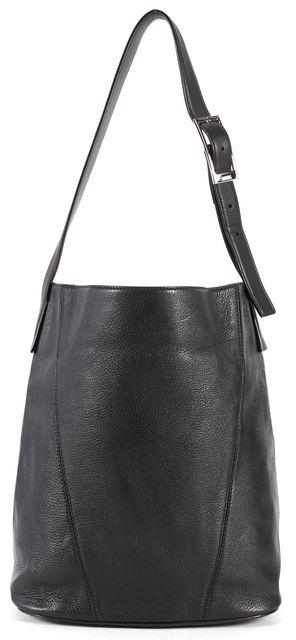 VINCE Black Pebbled Leather Adjustable Strap Shoulder Bag