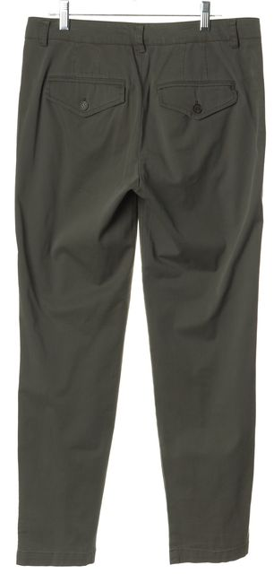 VINCE Olive Green Cotton Casual Pants