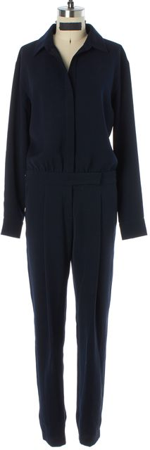 VINCE Navy Button Down Jumpsuit