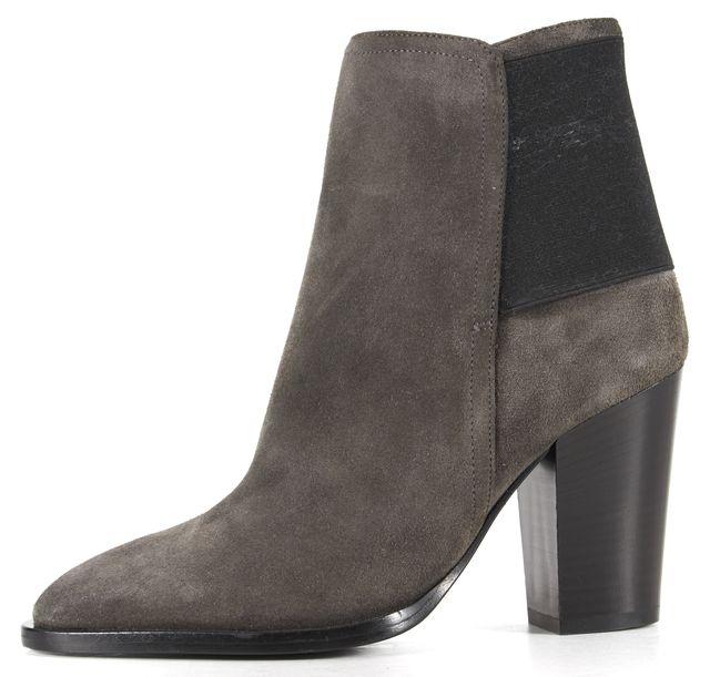 VINCE Gray Suede Ankle Boots