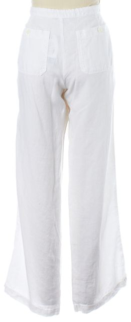 VINCE White Linen Cargo Style Casual Pants