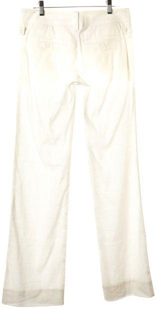 VINCE White Linen 4 Pocket Casual Pants