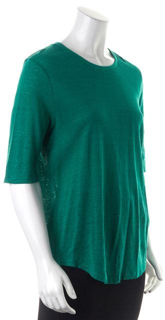VINCE Green Basic T-Shirt