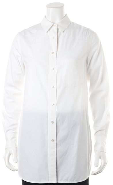 VINCE White Over Sized Button Down Blouse Top