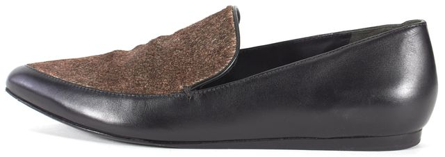 VINCE Black Calf Hair Leather Loafer Flats