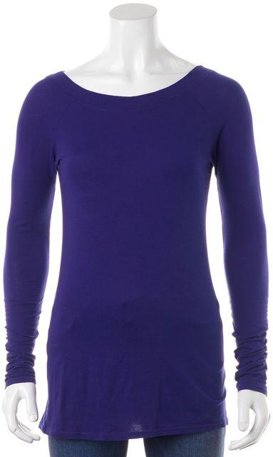 VINCE Indigo Blue Long Sleeve Top