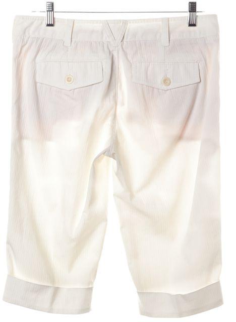 VINCE Ivory Bermuda Cropped Pants