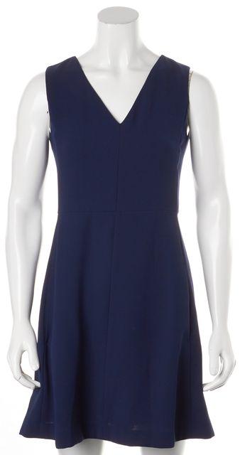 VINCE Navy Blue Fit & Flare Dress