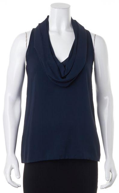 VINCE Navy Blue Cowl Neck Sleeveless Blouse Top
