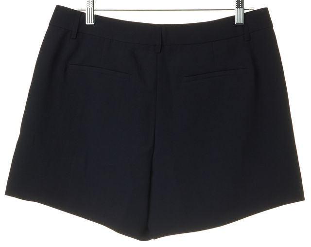 VINCE Navy Blue High Rise Pleated Dress Shorts