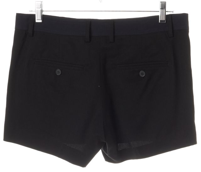 VINCE Black Navy Blue Pleated Pocket Front Mini, Short Shorts