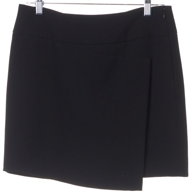 VINCE Black Asymetrical Mini Skirt