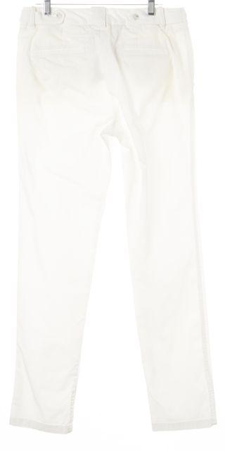 VINCE White Stretch Cotton Trouser Dress Pants