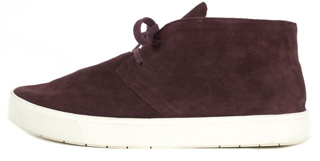 VINCE Burgundy Red Suede Chukka Sneakers