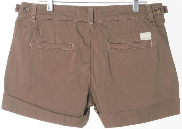 VINCE Brown Misfit Cohiba Cuffed Khaki, Chino Shorts