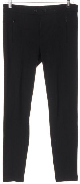 VINCE Black Zipped Pocket Stretch Skinny Leggings Pants