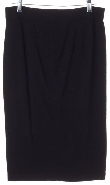VINCE Black Knit Knee-Length Pencil Skirt