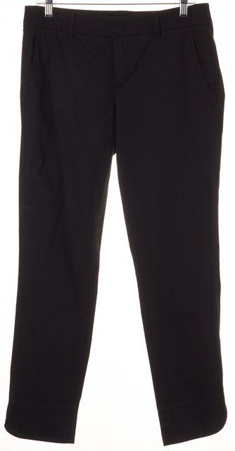 VINCE Black Ankle Slit Cotton Casual Dress Pants