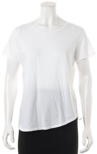 VINCE White Cotton Jersey Short Sleeve Basic Tee T-Shirt