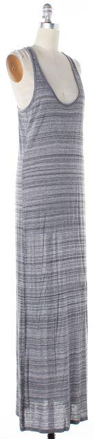 VINCE Heather Gray Striped Print Sleeveless Tank Maxi Dress