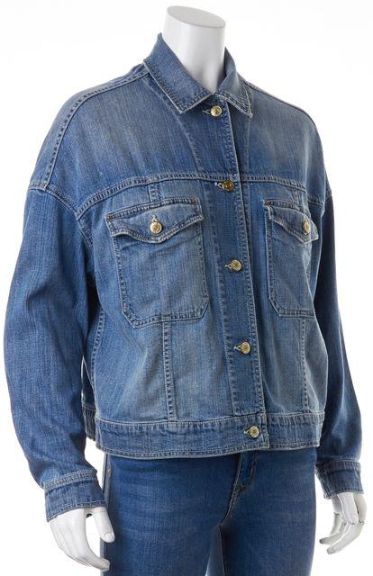 VINCE Blue Denim Button Front Jean Jacket
