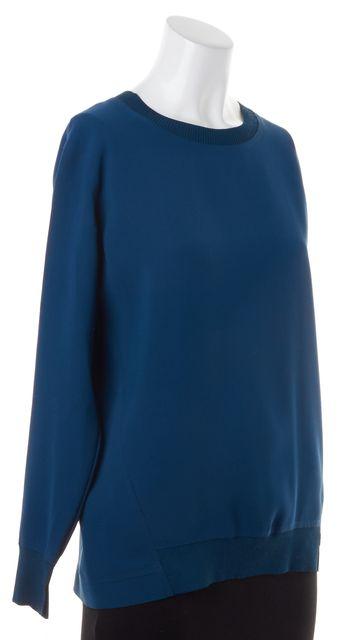 VINCE Dark Teal Blue Long Sleeve Crewneck Sweater