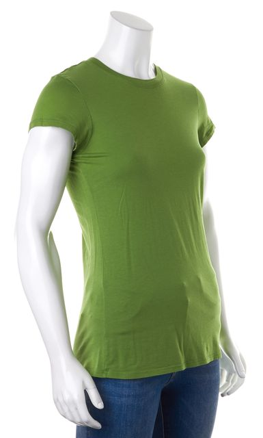 VINCE Lime Green Short Sleeve Basic T-Shirt