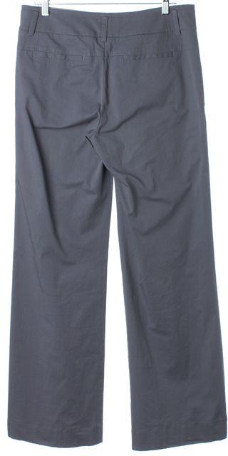 VINCE Light Gray Wide Legged Cotton Dress Pants